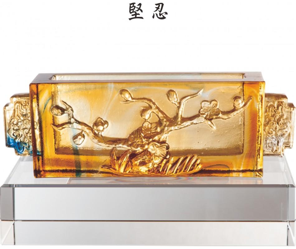 WS-21018堅忍/蕙質/高昇/錦繡系列精品脫臘琉璃作品(共四款)