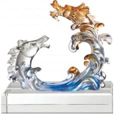 WS-41004龍馬精神精品脫臘琉璃作品