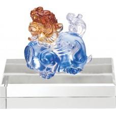 WS-51020招財貔貅精品脫臘琉璃擺飾作品