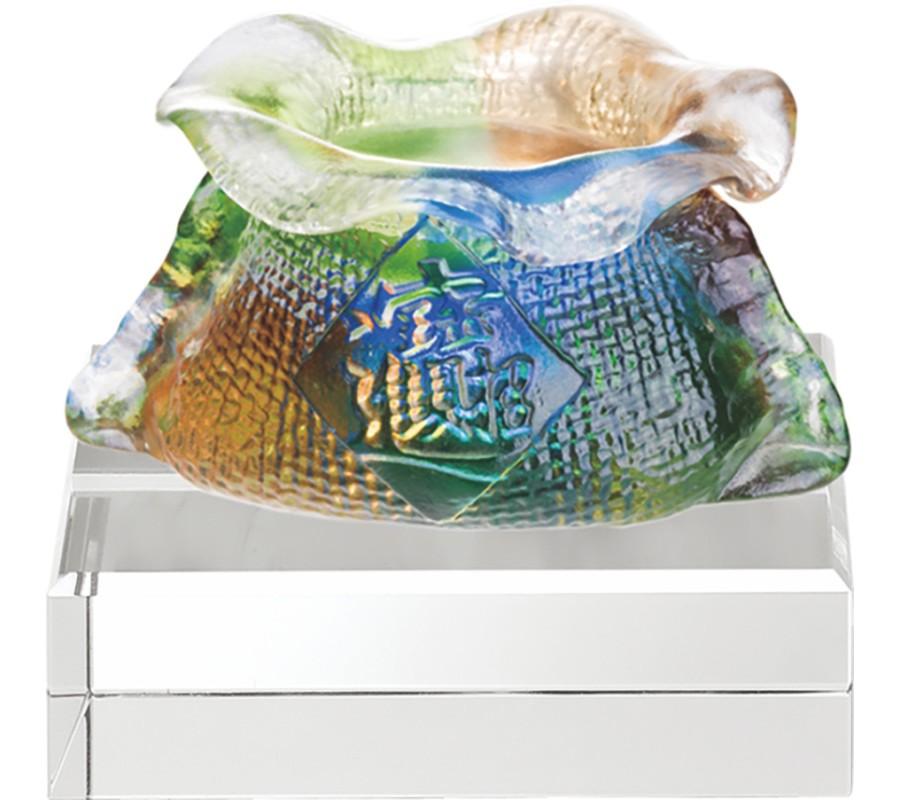 WS-51027招財進寶福袋精品脫臘琉璃擺飾作品