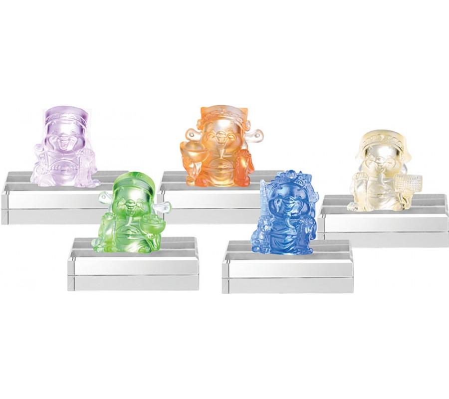 WS-21051福財神系列精品脫臘琉璃作品