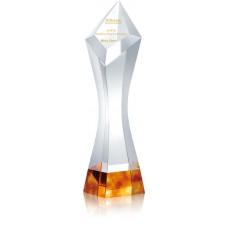 WS-81025金黃色頂級水晶琉璃獎盃