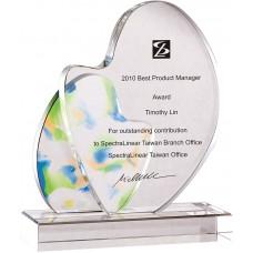 WS-01168彩虹琉璃造型水晶獎牌