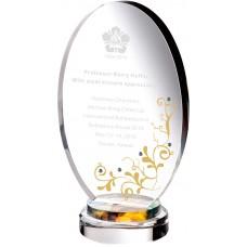 WS-01172蛋型水鑽彩虹琉璃獎牌