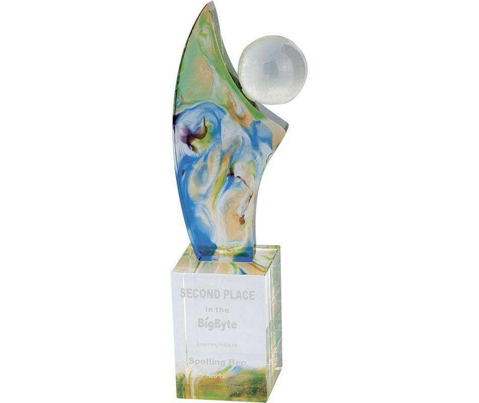 WS-01179立體造型彩虹琉璃獎座