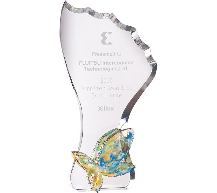 WS-01202彩虹琉璃水晶獎杯