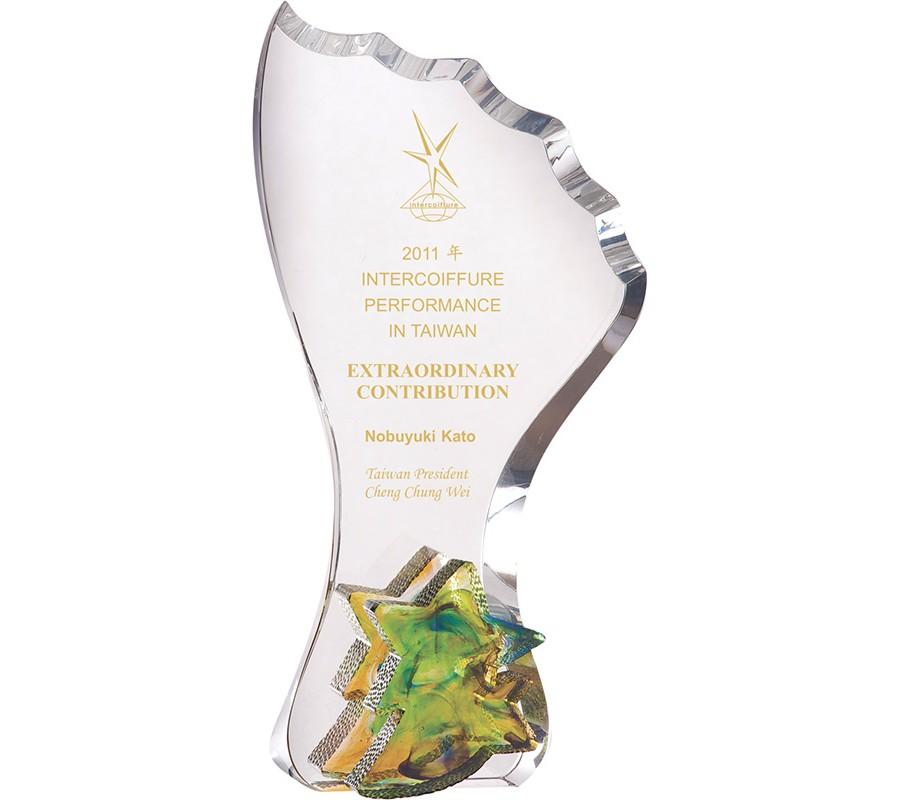 WS-01203彩虹琉璃水晶獎杯