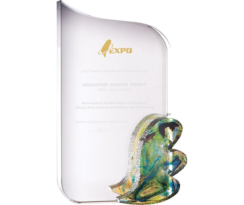 WS-01205彩虹琉璃配件水晶獎牌