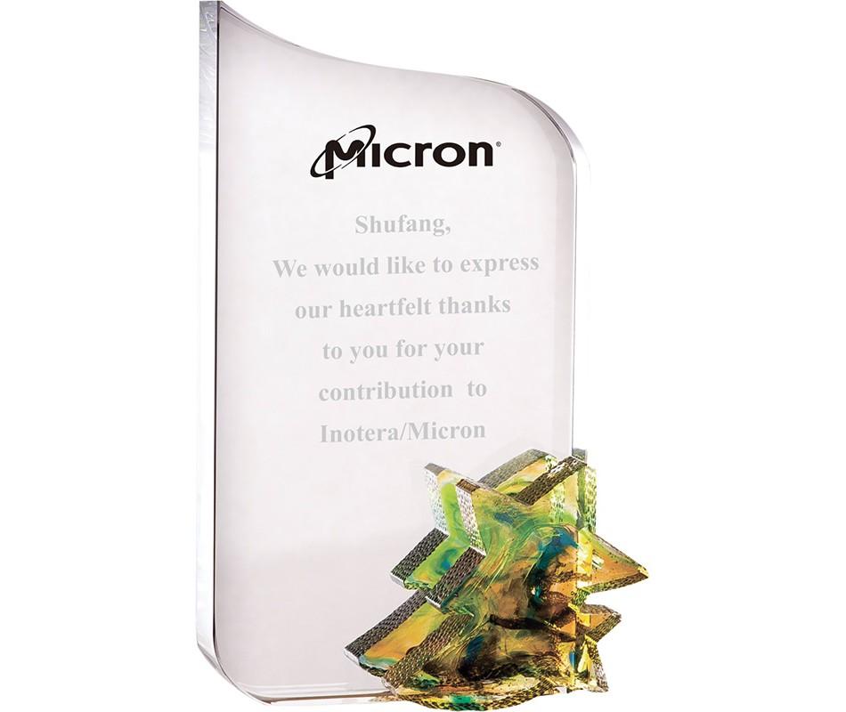 WS-01206彩虹琉璃配件水晶獎牌