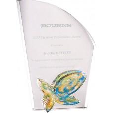 WS-01208彩虹琉璃配件水晶獎牌