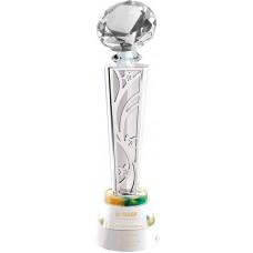 WS-01215水晶鑽石金屬片水晶圓座獎杯