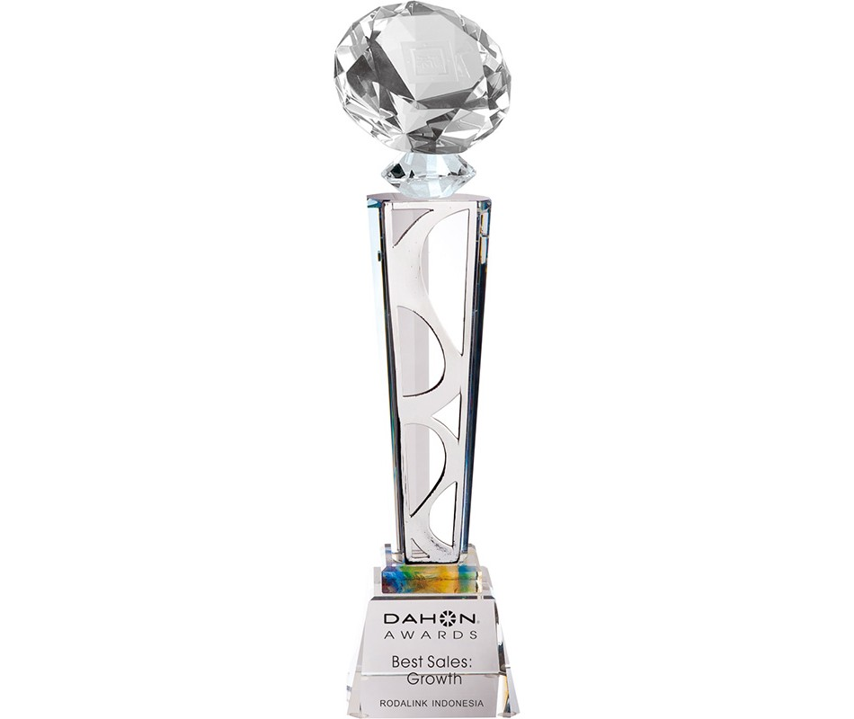 WS-01219水晶鑽石金屬片水晶獎盃