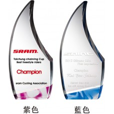 WS-42034彩虹琉璃水晶獎牌