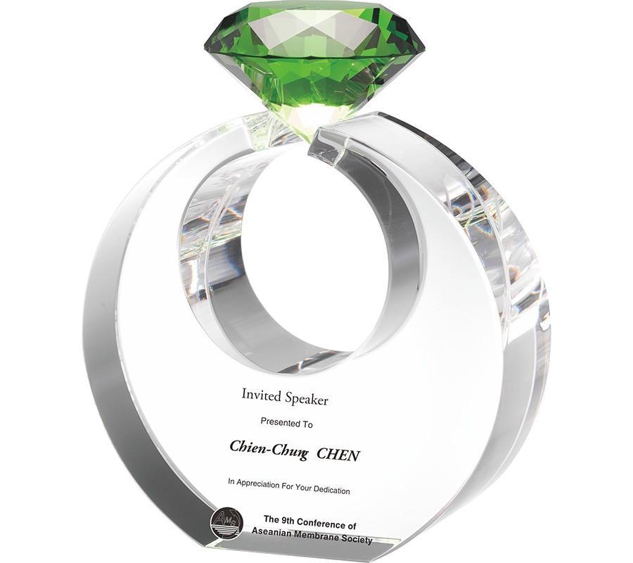 WS-81001鑽石水晶獎牌