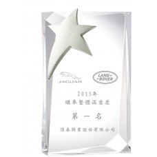 WS-81012多切面水晶金屬獎牌