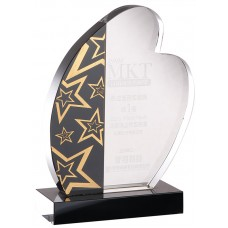 WS-03014大圓邊造型黑水晶獎牌-微瑕疵品出清
