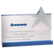 WS-03053夾色斜邊星星造型水晶獎牌