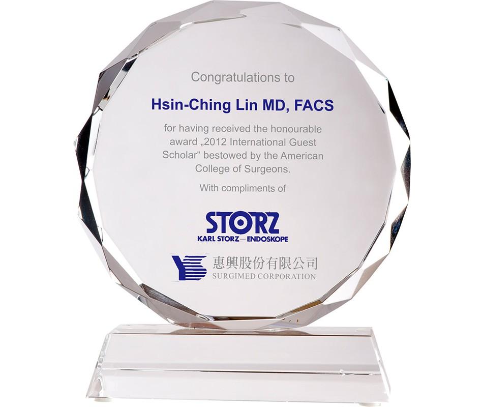 WS-03113八公分太陽片造型水晶獎牌