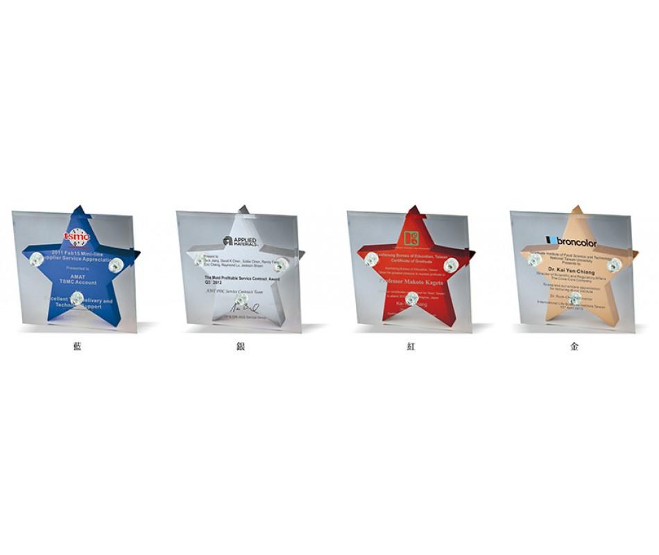WS-43019木質造型水晶獎牌
