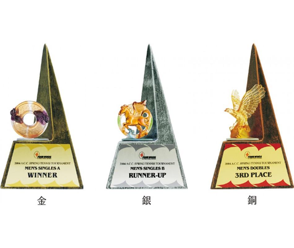 WS-02021頂尖琉璃合成石獎座