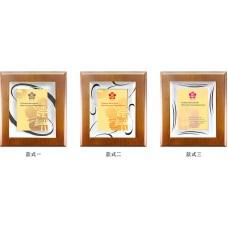WS-04135金屬框嵌木質獎牌