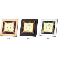 WS-34027彩透玻璃木質獎牌