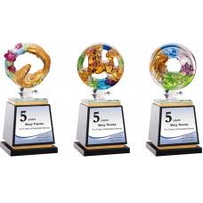 WS-54029脫蠟琉璃木質獎座