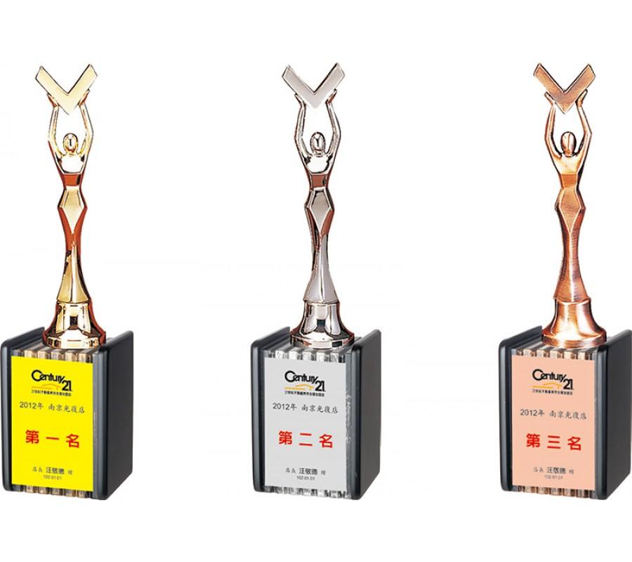 WS-46006勝利女神金屬木質獎座