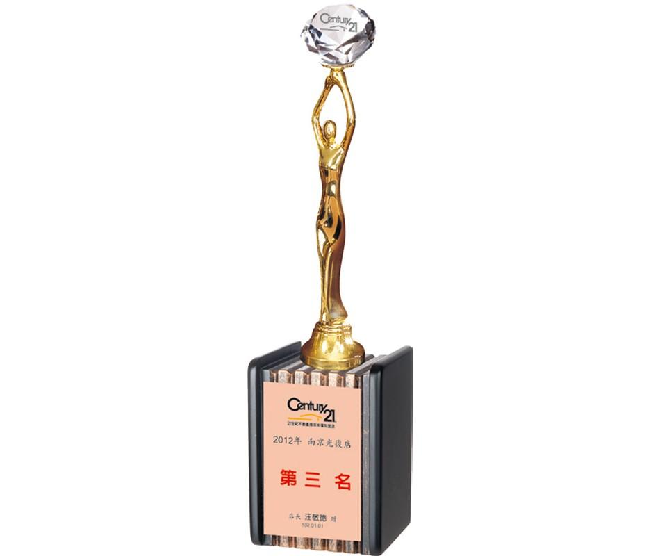WS-46008水晶金屬獎杯