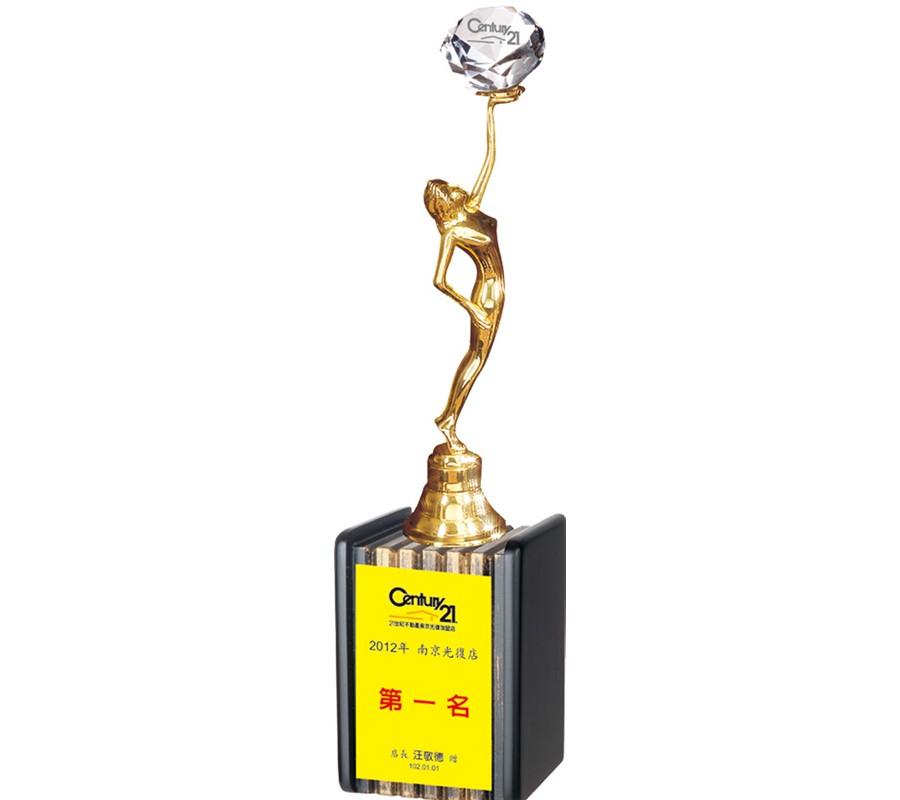 WS-46010水晶金屬獎杯