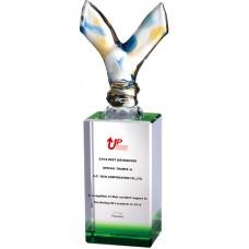WS-58005勝利玻璃拉絲水晶獎座