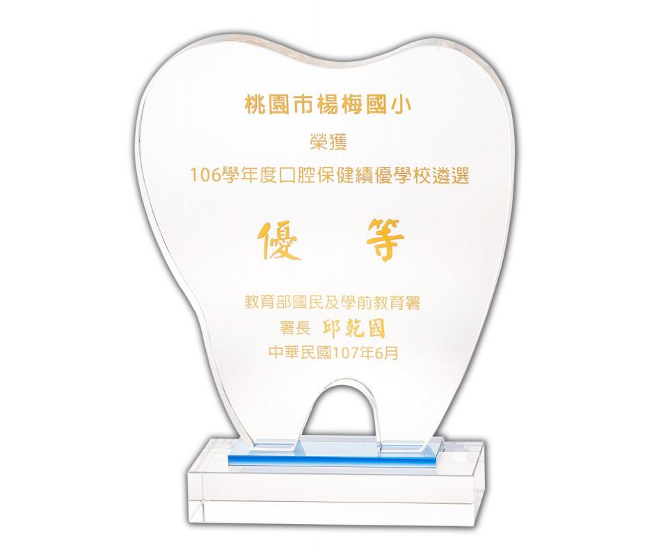 WS-99007 牙齒造型水晶獎牌訂製