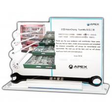 WS-99013 APEX 工具商 訂製造型 UV印刷水晶獎座